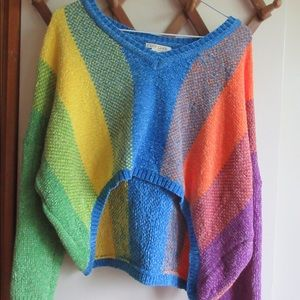 Cute colorful cropped sweater